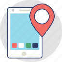 gps map, location marker, location pointer, map location, mobile gps icon