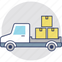 cargo truck, commercial delivery, delivery, lorry, shipping truck icon
