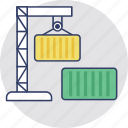 cargo container, consignment, logistics, shipment, storage container icon
