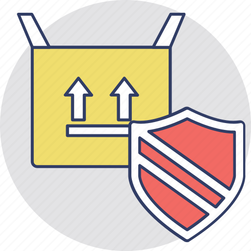 delivery protection, package security, secured delivery, shipping protection icon
