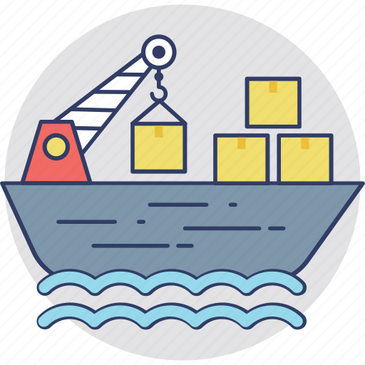 cargo, consignment ship, delivery, freight, shipment icon