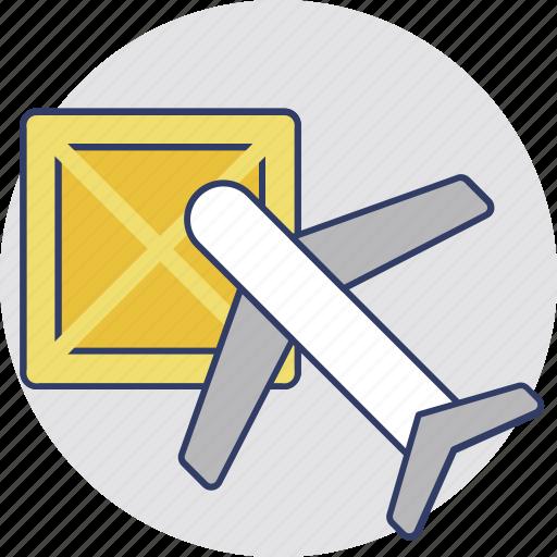 air delivery, air logistics, air ship, airbus, international freight icon