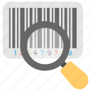 barcode scan, corded barcode scanner, product scan, upc magnifying icon