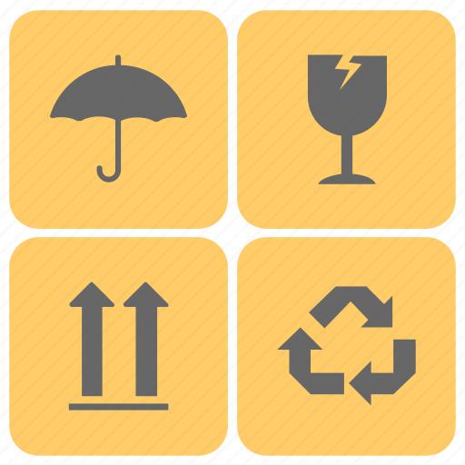 fragile mark, fragile symbols, handle with care, packaging, packaging labels icon