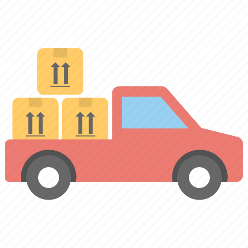 commercial truck, commercial vehicle, delivery van, shipping lorry, shipping truck icon