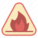 danger, fire, flame, shipping, warning icon