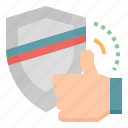 finger, like, reliability, trust, value icon