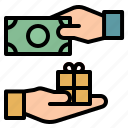 hand, method, money, pay, payment icon
