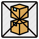 box, layer, not, stack, warning icon