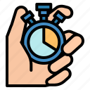 chronometer, control, minutes, time, timer icon