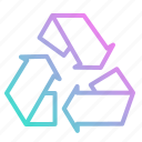 ecology, environment, nature, recycle, recycling icon