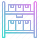 delivery, full, inventory, shelf, shipping icon
