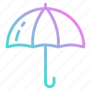 day, dry, keep, rain, umbrella icon