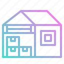buildings, factories, stocks, storage, warehouse icon