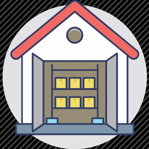 Warehouse, storage unit, godown, store, storehouse icon