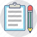 journal, letter, note, report, writing icon