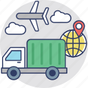 advance logistics, delivery transportation, international courier, logistics delivery, shipment icon