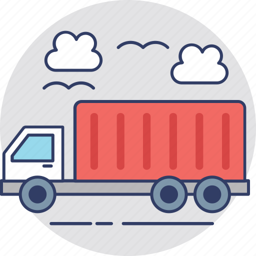 commercial truck, delivery truck, delivery van, shipping lorry, shipping truck icon