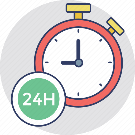 delivery concept, delivery time, on time delivery, punctuality in shipping, timely service icon