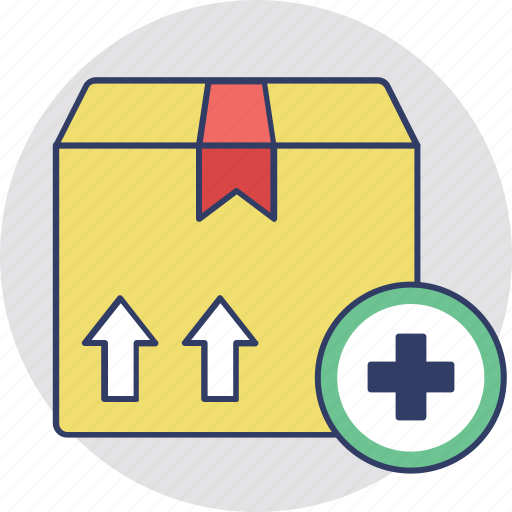 Add box, add parcel, package, packed box, parcel icon - Download on Iconfinder