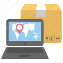 ecommerce, fast delivery, global shipping, logistic technology, online delivery icon