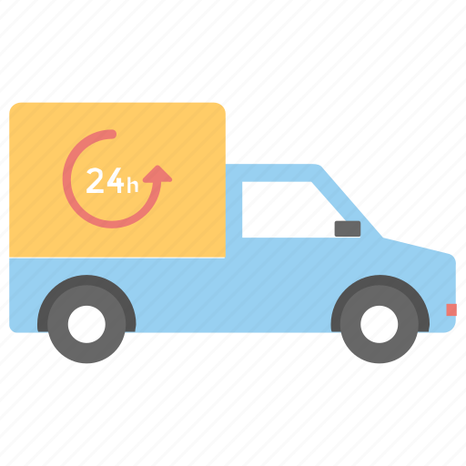 delivery in 24 hours, express delivery, fast delivery, rapid logistics, timely delivery icon