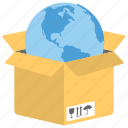 delivery package, global delivery, international delivery, international shipping icon