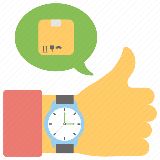 best delivery services, customer response, delivery feedback, satisfaction, thumb up icon