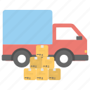 cargo transport, cargo truck, delivery truck, pickup truck, shipping van icon