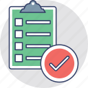 checklist, clipboard, document, index, questionnaire icon