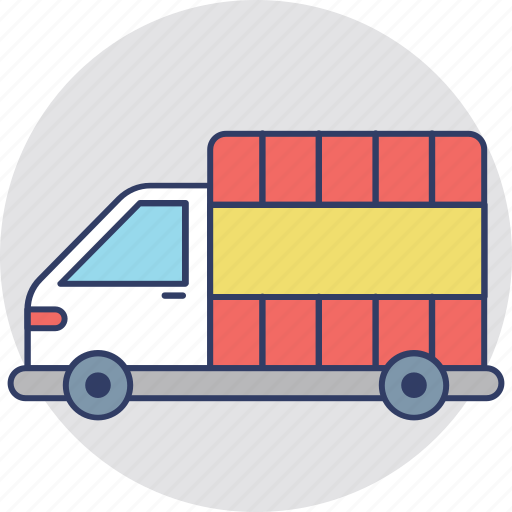 Cargo truck, delivery car, pickup truck, shipping van, utility van icon - Download on Iconfinder