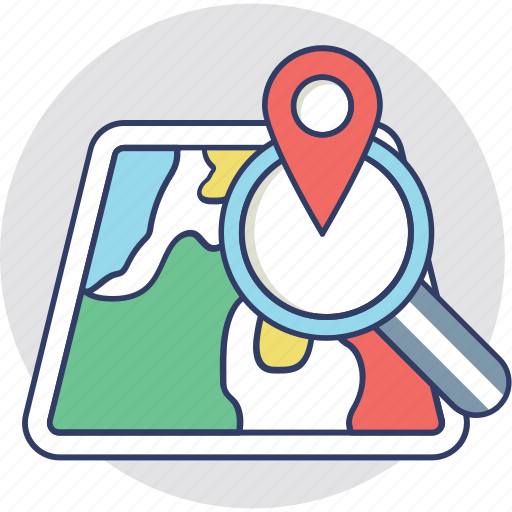 find location, location pointer, navigation, search location, track location icon