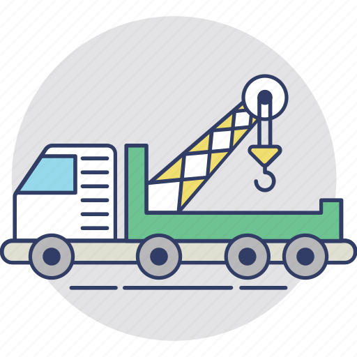 Construction vehicle, crane vehicle, lifter truck, shipping truck, tow truck icon - Download on Iconfinder