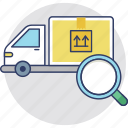 delivery tracking, order status, package logging, trace and track, tracking shipment icon