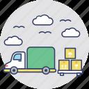 pickup truck, utility van, cargo truck, delivery car, shipping van