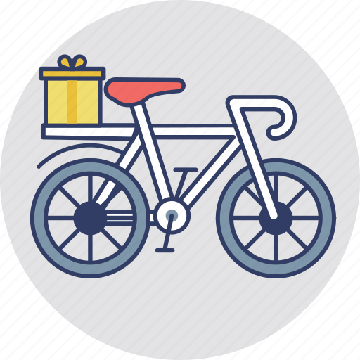 cargo bike, courier service, delivery bike, delivery cycle, logistics transport icon