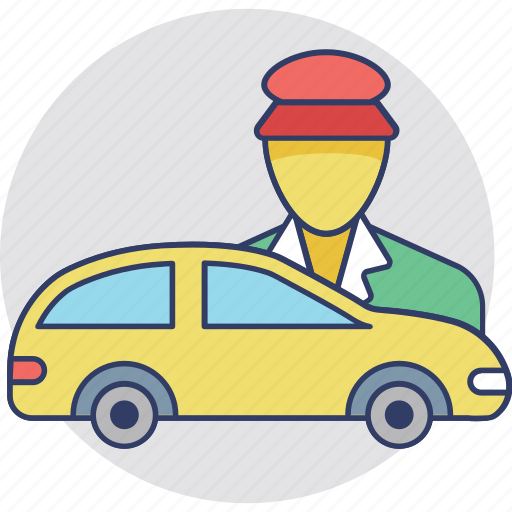car driver, delivery man, driver, shipping man, taxi driver icon