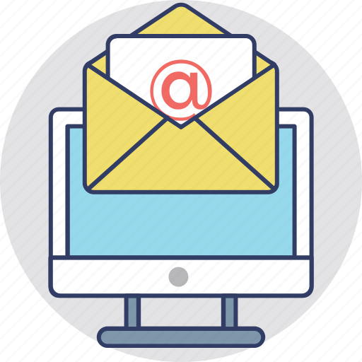 email, email computer, email sending, modern correspondence, social marketing icon