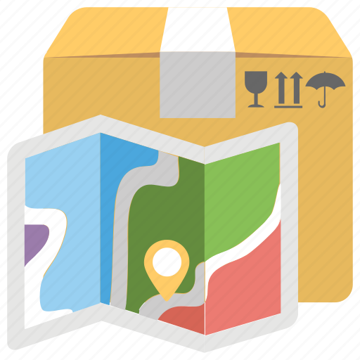 delivery location, delivery routes, freight services, packages shipment, shipping services icon