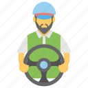 conveyer, courier, dispatcher, driver, messenger icon