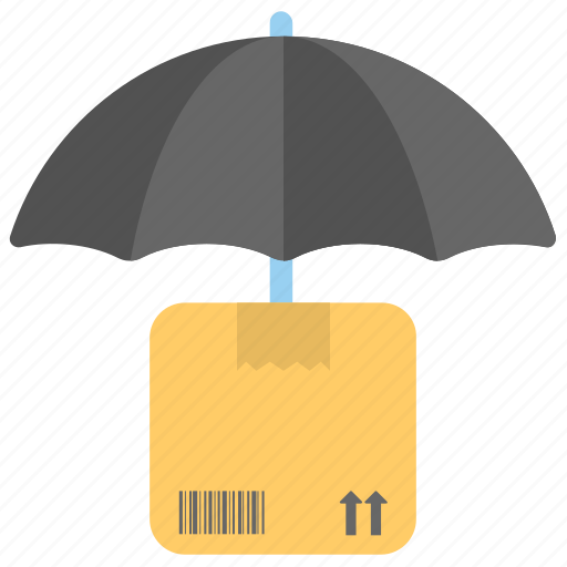 delivery service concept, fragile packaging, keep dry, package export, shipping protection icon