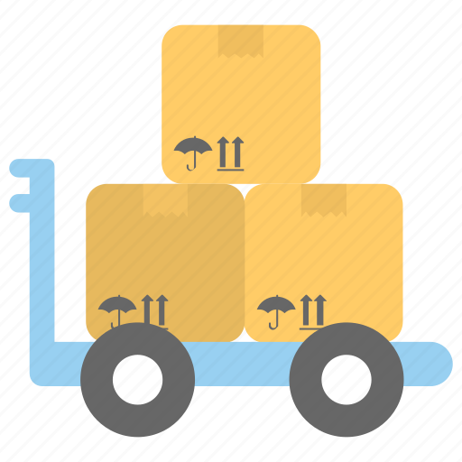 freight, hand trolley, hand truck, luggage cart, pushcart icon