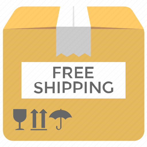 cargo services, free delivery, free shipping, free shipping box, shipping support icon