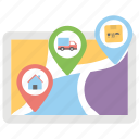 cargo location, delivery location, delivery service, gps tracking, search delivery location