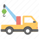 construction vehicle, crane vehicle, lifter truck, shipping truck, tow truck icon