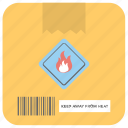 flammable symbol, packaging fragile, packaging sign, parcel flame sign, shipping services icon