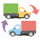 cargo truck, delivery car, pickup truck, shipping van, utility van icon
