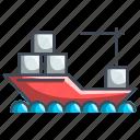 delivery, logistics, ship, transport, transportation icon