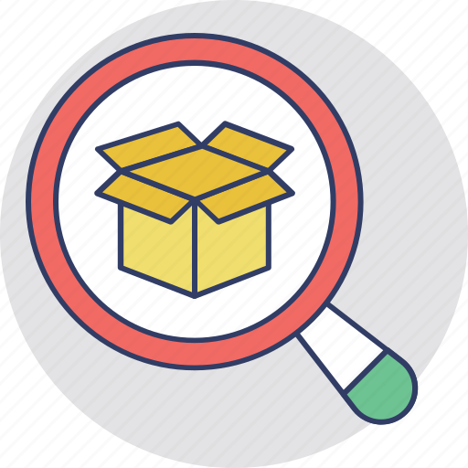 delivery services, logistic package, order tracking, parcel tracking, search parcel icon