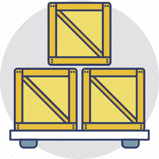 Cardboard boxes, logistic storage, packages stack, sealed goods, warehouse icon - Download on Iconfinder